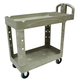 Rubbermaid 450088BG 500 lb. Capacity 17-1/8 in. x 38-1/2 in. x 38-7/8 in. Heavy-Duty Utility Cart (Beige)