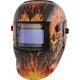 Titan 41266 Solar Powered Auto Dark Welding Helmet (Flame)
