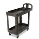Rubbermaid 450088BK 500 lb. Capacity 17-1/8 in. x 38-1/2 in. x 38-7/8 in. Heavy-Duty Utility Cart (Black)