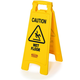 Rubbermaid 611277YW Caution Wet Floor Plastic Floor Sign (Bright Yellow)