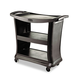 Rubbermaid 9T6800BK 300 lb. Capacity 20-1/3 in. x 38-9/10 in. Executive Service Cart (Black)