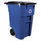 Rubbermaid 9W2773BLU 50 Gal. Brute Rollout Recycling Container (Blue)