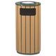 Rubbermaid R23SU50PL 12 Gal. Ash & Trash Receptacle (Brown)