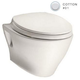 TOTO CT418FG-01 Aquia Elongated Wall Mount Toilet Bowl with SanaGloss (Cotton White)