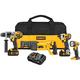 Factory Reconditioned Dewalt DCK492L2R 20V MAX Cordless Lithium-Ion 4-Tool Premium Combo Kit