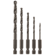 Bosch BL5IM 5-Piece Impact Tough Black Oxide Drill Bit Set