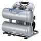 California Air Tools CAT-4610AC 1 HP 4.6 Gallon Ultra Quiet Aluminum Twin Tank Air Compressor