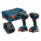 Bosch CLPK232A-181L 18V 2.0 Ah Cordless Lithium-Ion Drill and Impact Driver Combo Kit with L-BOXX