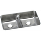 Elkay ELUHAQD3218 Gourmet Undermount 32 in. x 18-1/2 in. Dual Basin Kitchen Sink (Stainless Steel)