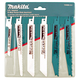 Makita 723086-A-A 6-Piece Industrial Range Reciprocating Saw Blade Pack