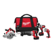 Milwaukee 2690-24 M18 18V Cordless Lithium-Ion 4-Tool Combo Kit