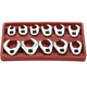 ATD 1090 11-Piece SAE Crowfoot Wrench Set