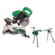 Hitachi C10FSBP4-BNDL 10 in. Sliding Dual Compound Miter Saw & Portable Stand