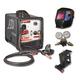 ATD 3175P 175 Amp MIG/FLUX Core Welder Kit with FREE Helmet Regulator & Cart