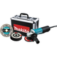 Makita 9557PBX1 4-1/2 in. Paddle Switch AC/DC Angle Grinder with Case and Grinding Wheels