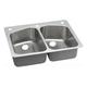 Elkay DPXSR233223 Dayton Premium Universal Mount 33 in. x 22 in. Single Basin Kitchen Sink (Stainless Steel)