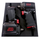 King Tony NC-4611QNC 3/8 in. Drive & 1/2 in. Drive Mini Impact Wrench Kit