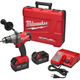 Factory Reconditioned Milwaukee 2703-82 FUEL M18 18V Cordless Lithium-Ion 1/2 in. Brushless Drill Driver Kit with 2 XC 5.0 Ah Batteries