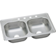 Elkay D233194 Dayton Drop In 33 in. x 19 in. Dual Basin Kitchen Sink (Stainless Steel)
