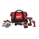 Factory Reconditioned Milwaukee 2694-84 M18 18V Cordless Lithium-Ion 4-Tool Combo Kit