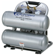 California Air Tools CAT-4610S 1 HP 4.6 Gallon Ultra Quiet Steel Twin Tank Air Compressor