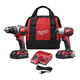 Milwaukee 2691-22 M18 18V Cordless Lithium-Ion 1/2 in. Drill Driver and Impact Driver High Performance Combo Kit