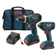 Factory Reconditioned Bosch CLPK232-181-RT 18V 2.0 Ah Cordless Lithium-Ion 1/2 in. Drill Driver and Impact Driver Combo Kit