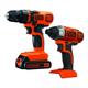Black & Decker BD2KITCDDI 20V MAX 1.5 Ah Cordless Lithium-Ion Drill and Impact Driver Combo Kit
