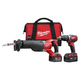 Milwaukee 2694-22 M18 18V Cordless Lithium-Ion 1/2 in. Hammer Drill and Sawzall Recip Saw Combo Kit