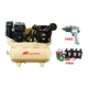 Ingersoll Rand 2475F14GTS 2-Stage Gas-Powered 14 HP Kohler Air Compressor with Start Up Kit & Impact Wrench