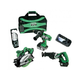 Hitachi KC18DBL HXP 18V Cordless Lithium-Ion 4-Tool Combo Kit