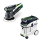 Festool P48571817 5 in. Random Orbital Finish Sander with CT 48 E 12.7 Gallon HEPA Dust Extractor