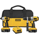 Factory Reconditioned Dewalt DCK255XR 18V XRP Cordless 1/2 in. Hammer Drill and Impact Driver Combo Kit