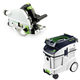 Festool P48561432 Plunge Cut Track Saw with CT 48 E 12.7 Gallon HEPA Dust Extractor