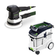 Festool P48571794 6 in. Random Orbital Finish Sander with CT 48 E 12.7 Gallon HEPA Dust Extractor