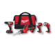 Factory Reconditioned Milwaukee 2693-84CT M18 18V Cordless Lithium-Ion 4-Tool Combo Kit