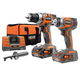 Factory Reconditioned Ridgid ZRR9600 18V X4 Hyper Lithium-Ion Combo Kit