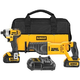 Factory Reconditioned Dewalt DCK297L2R 20V MAX Cordless Lithium-Ion 1/4 in. Impact Driver and Reciprocating Saw Combo Kit