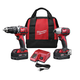 Factory Reconditioned Milwaukee 2697-82 M18 18V Cordless Lithium-Ion 1/2 in. Hammer Drill and Impact Driver High Performance Combo Kit