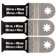 Fein 63502151020 MultiMaster 1-1/8 in. Universal E-Cut Blade (3-Pack)