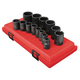 Sunex 2678 14-Piece 1/2 in. Drive 12-Point SAE Impact Socket Set