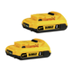 Dewalt DCB203-2 20V MAX XR 2 Ah Lithium-Ion Battery (2-Pack)