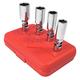 Sunex Tools 8844 4-Piece 3/8 in. Drive SAE Universal Spark Plug Socket Set