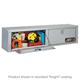 JOBOX 866982 72 in. Long Aluminum Heavy-Duty Topside Truck Box with Shelf (Black)