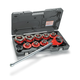 Ridgid 55207 1/2 in. - 2 in. Capacity NPT Exposed Ratchet Threader Set for Plastic Coated Pipe