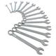 Sunex 9715 14-Piece Metric Raised Panel Combination Wrench Set