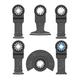 Bosch OSL006 6-Piece StarLock Oscillatiing Multi-Tool Accessory Blade Set