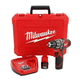 Milwaukee 2411-22 M12 12V Cordless Lithium-Ion 3/8 in. Hammer Drill Driver Kit