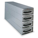 JOBOX 1409980 50 in. Long Four Drawer Stacked Aluminum Drawer Unit