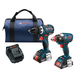 Bosch CLPK238-181 18V 2.0 Ah Cordless Lithium-Ion EC Brushless Impact Driver and Drill Driver Combo Kit